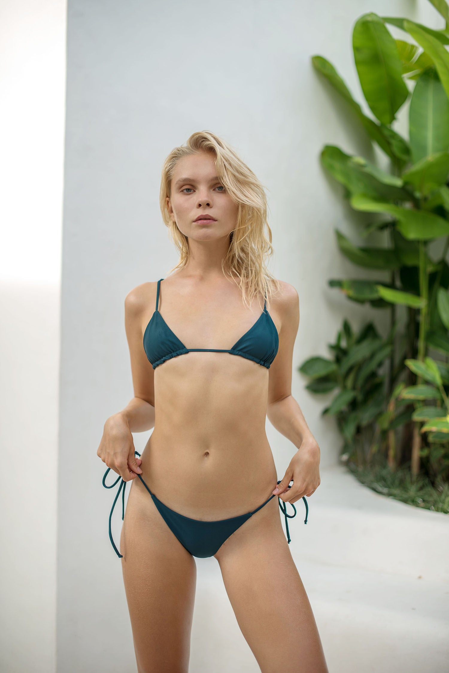 Storm Swimwear - Formentera - Tie Side Bikini Bottom in Jungle Green