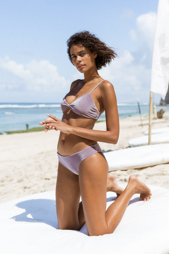 Storm Swimwear - St Barts - Bottom in Purple Velvet