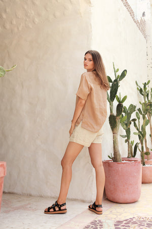 La Confection - Joie - Short in Bircher Linen