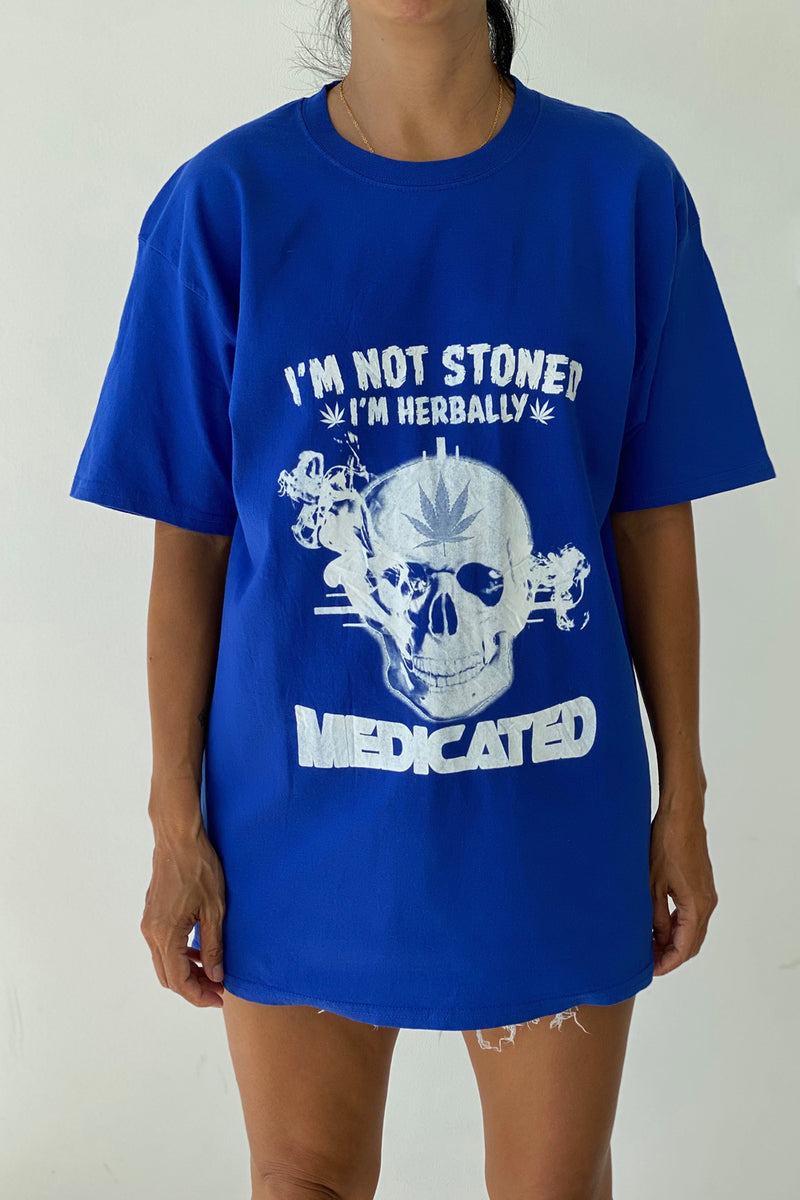 "Vintage T-Shirt ""I'm Not Stoned, I'm Herbally Medicated"""