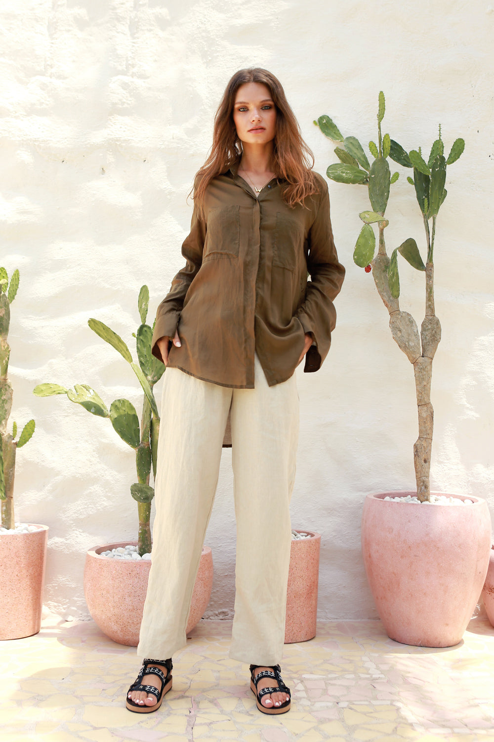 La Confection - Iva - Pant in Bircher Linen