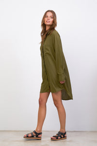 La Confection - Twiggy - Shirt Dress in Khaki