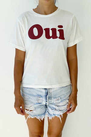 Oui - Womens Tshirt in White