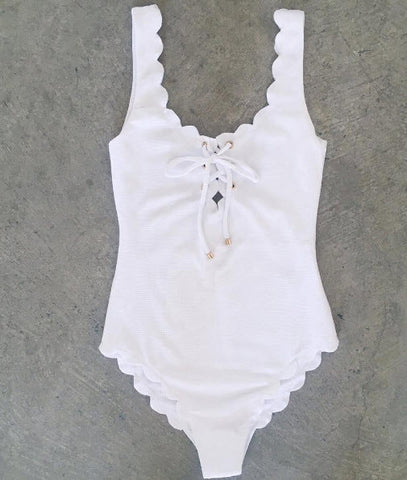 Marysia Swimwear - Palm Spring - Tie Maillot one piece in White