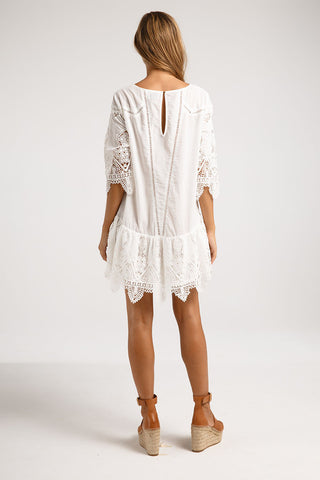 Suboo  Dresses - Prairie Mini Dress White