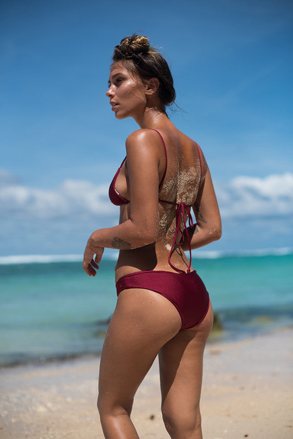 Storm Swimwear - St Barts - Bottom in Ruby