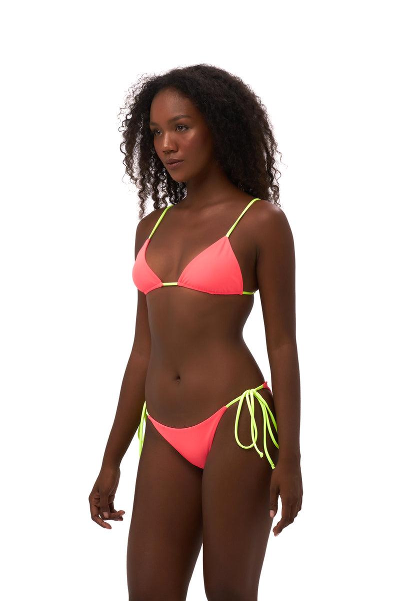 Storm Swimwear - Formentera - Tie Back Triangle Bikini Top in Neon Orange