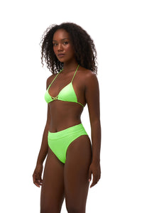 Storm Swimwear - Blue Lagoon - Tie Back with Padded Bikini Top in Neon Green