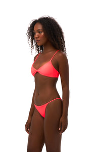 Storm Swimwear - Capri - Tube Single Side Strap Bikini Bottom in Neon Orange