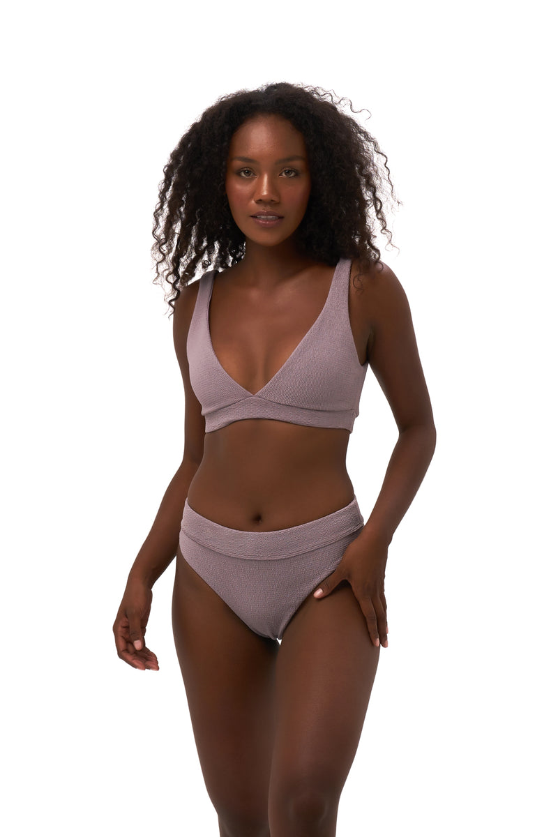 Storm Swimwear - Crete - Coverage top in Seascape Jacaranda Textured