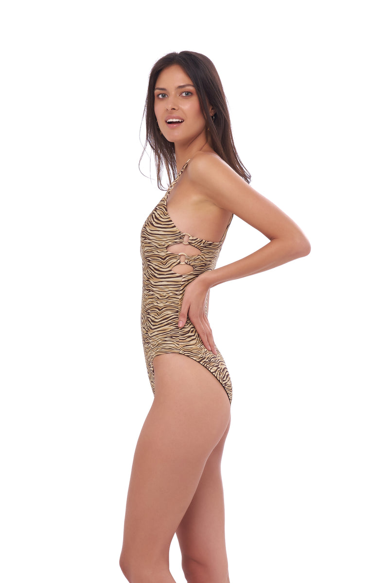 Storm Swimwear - Sicily - One Piece Swimsuit in Tiger Print