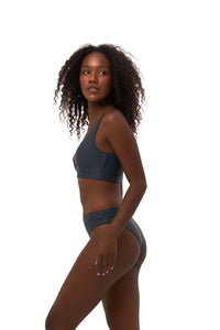Storm Swimwear - Super Paradise - Super Style High waist brief in Slate Grey