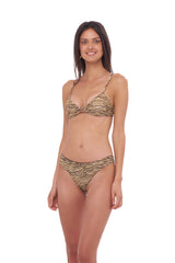 Storm Swimwear - Bora Bora - Twist front padded top in Tiger Print