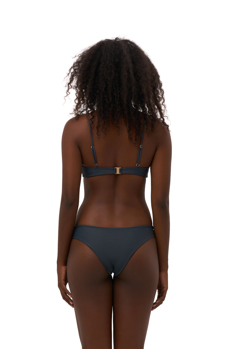 Storm Swimwear - Bora Bora - Twist front padded top in Slate Grey