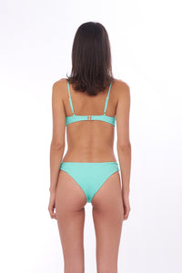 Storm Swimwear - Bora Bora - Twist front padded top in Aquamarine