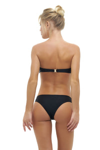 Storm Swimwear - Amalfi - Bandeu centre ruched bikini top in Black