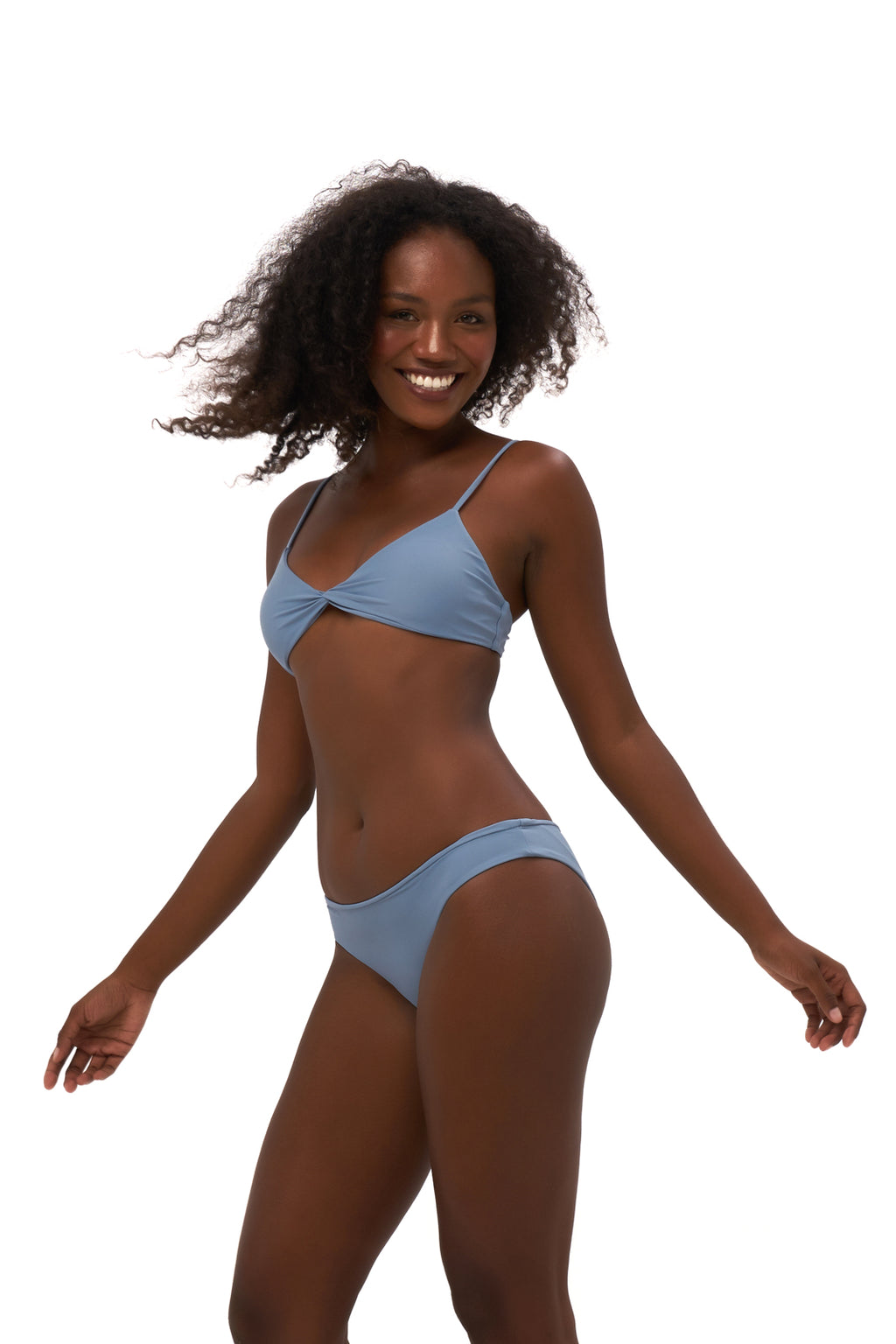 Storm Swimwear - Bora Bora - Twist front padded top in Sky Blue