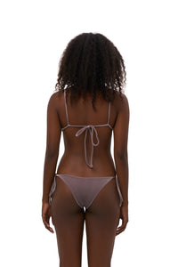 Storm Swimwear - Formentera - Tie Back Triangle Bikini Top in Purple Velvet