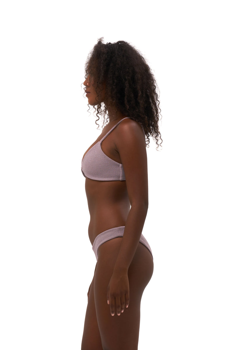 Storm Swimwear - Bora Bora - Twist front padded top in Seascape Jacaranda Textured