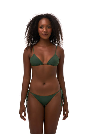 Storm Swimwear - Formentera - Tie Back Triangle Bikini Top in Plain Bamboo