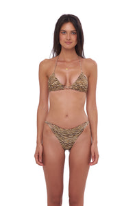 Storm Swimwear - Blue Lagoon - Tie Back with Padded Bikini Top in Tiger Print