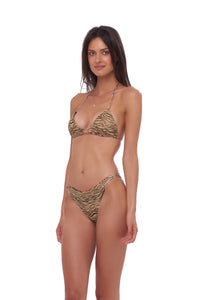 Storm Swimwear - Blue Lagoon - Bikini Bottom in Tiger Print