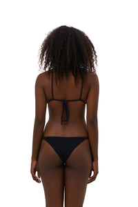 Storm Swimwear - Formentera - Tie Back Triangle Bikini Top in Storm Le Nuage Noir