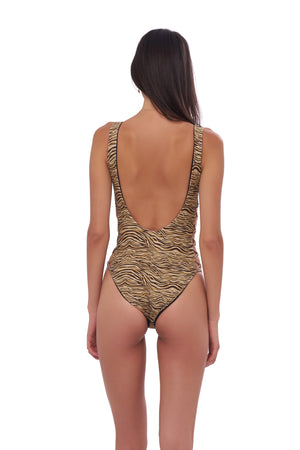 Storm Swimwear - Playa Del Amor - One Piece Swimsuit in Tiger Print