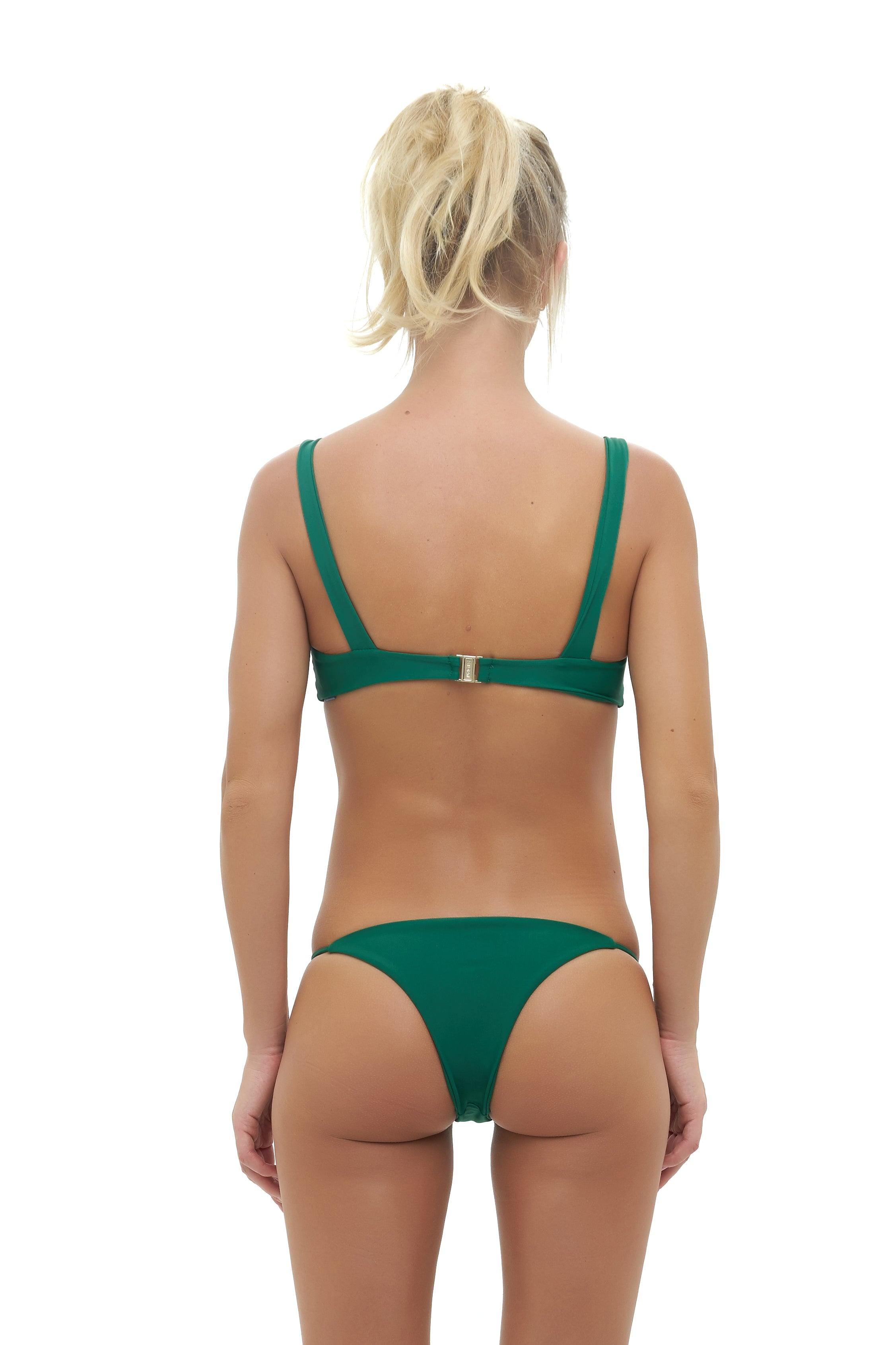 Storm Swimwear - Capri - Tube Single Side Strap Bikini Bottom in Palm Green