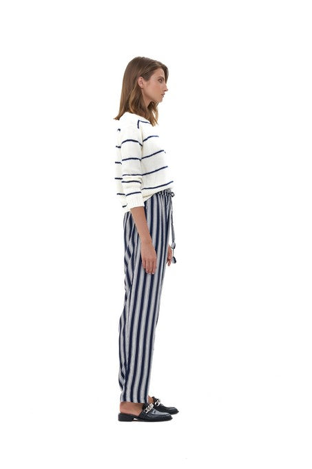 La Confection - Iva - Pant in Nolita Navy and White Stripe