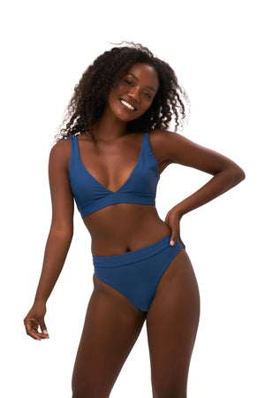 Storm Swimwear - Super Paradise - Super Style High waist brief in Ocean Blue