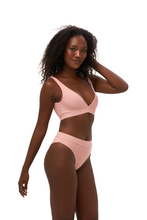 Storm Swimwear - Crete - Coverage top in Coral Cloud
