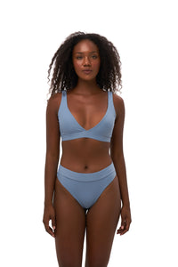 Storm Swimwear - Super Paradise - Super Style High waist brief in Sky Blue