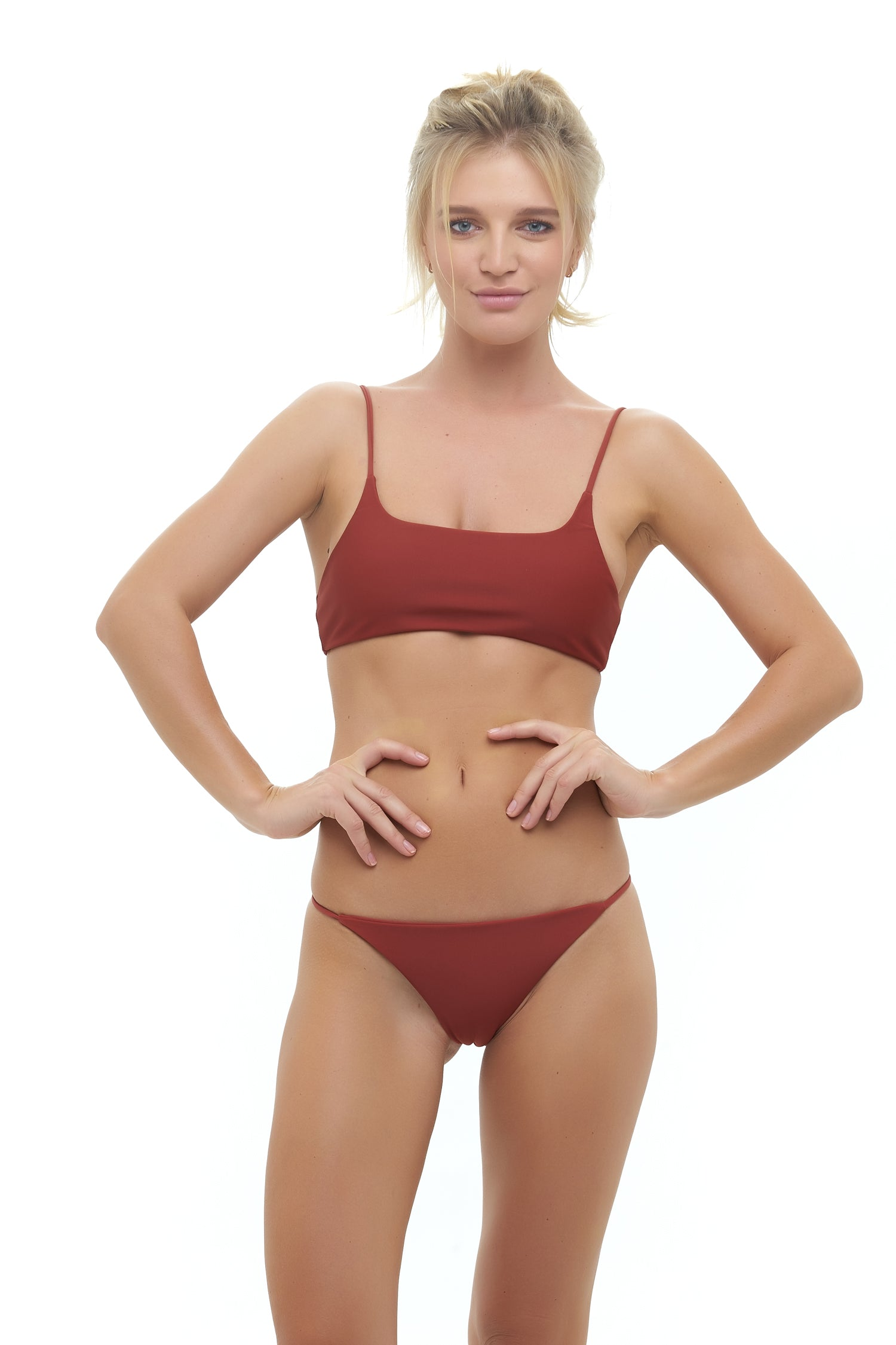 Storm Swimwear - Capri - Tube Single Side Strap Bikini Bottom in Desert Sand