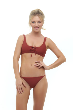 Storm Swimwear - Corsica - Lace Up bikini top in Desert Sand