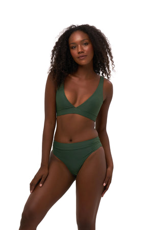 Storm Swimwear - Super Paradise - Super Style High waist brief in Plain Bamboo