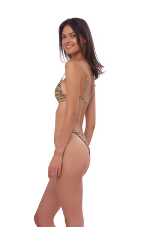 Storm Swimwear - Capri - Tube Single Side Strap Bikini Bottom in Tiger Print