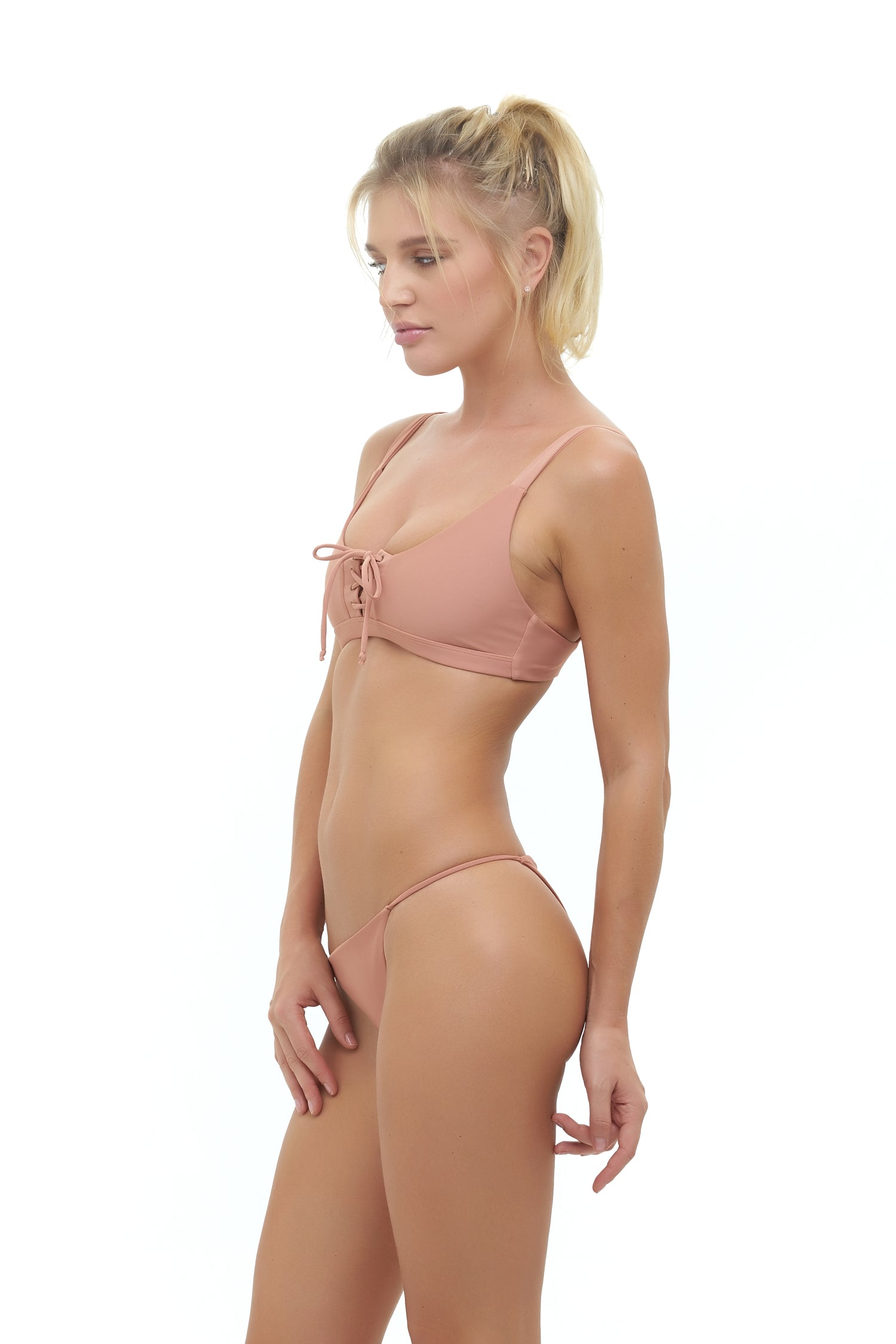 Storm Swimwear - Corsica - Lace Up bikini top in Sun Kissed