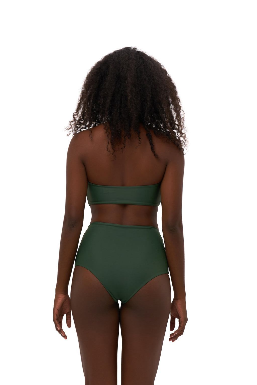 Storm Swimwear - Cannes - High Waist Bikini Bottom in Plain Bamboo