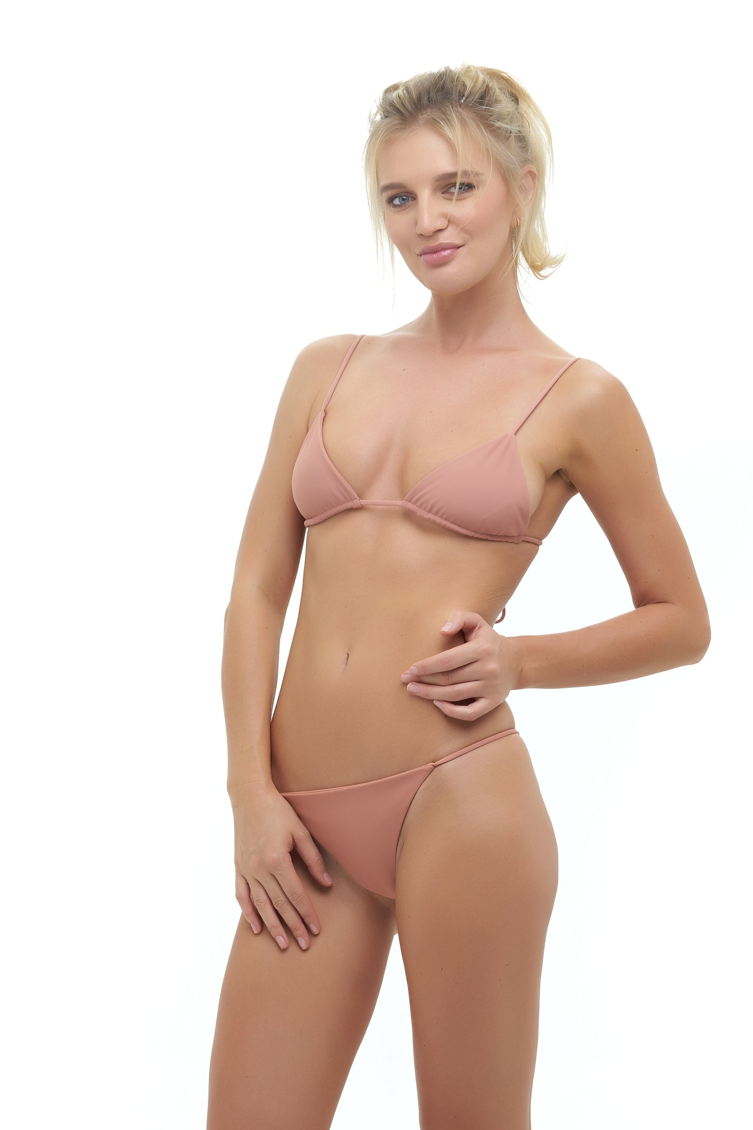 Storm Swimwear - Formentera - Tie Back Triangle Bikini Top in Sun Kissed