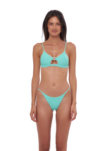 Storm Swimwear - Capri - Tube Single Side Strap Bikini Bottom in Aquamarine