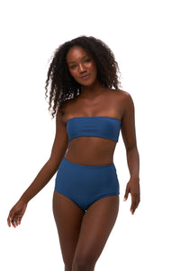 Storm Swimwear - Cannes - High Waist Bikini Bottom in Ocean Blue
