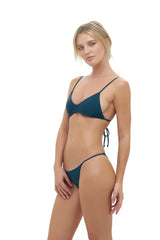 Storm Swimwear - Capri - Tube Single Side Strap Bikini Bottom in Jungle Green
