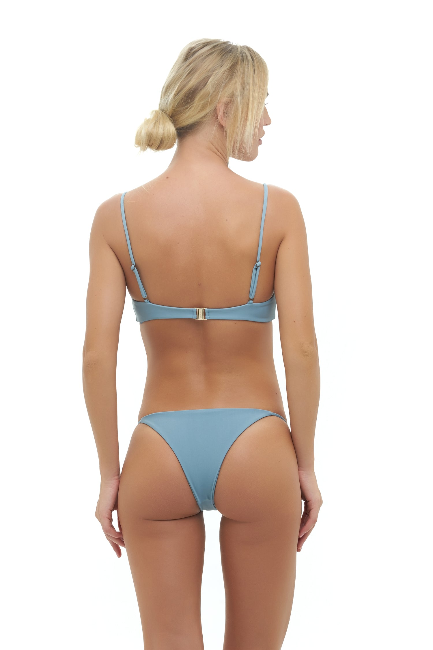 Storm Swimwear - Capri - Tube Single Side Strap Bikini Bottom in Dusk Blue