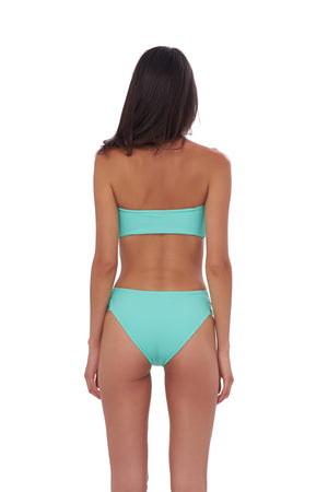 Storm Swimwear - Ravello - Plain Bandeu Bikini Top in Aquamarine