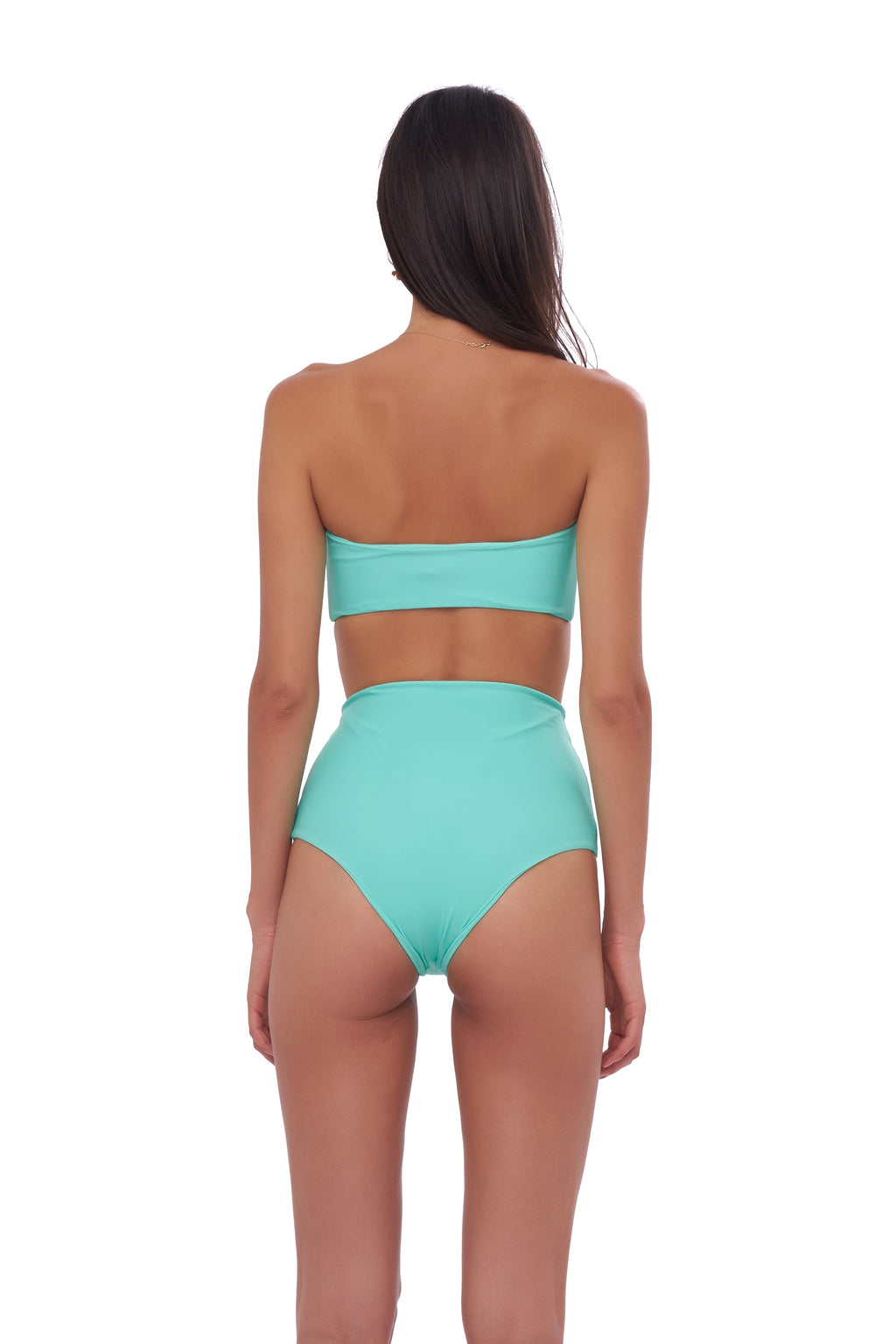 Storm Swimwear - Cannes - High Waist Bikini Bottom in Aquamarine