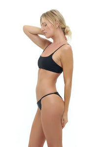 Storm Swimwear - Capri - Tube Single Side Strap Bikini Bottom in Black