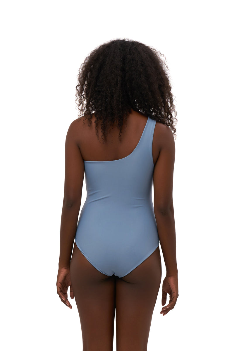 Storm Swimwear - Cinque Terre - One shoulder One Piece in Sky Blue