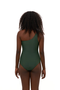 Storm Swimwear - Cinque Terre - One shoulder One Piece in Plain Bamboo