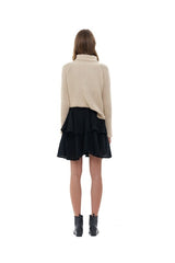 La Confection - Aelyne - Roll Neck Knit Sweater in Sand